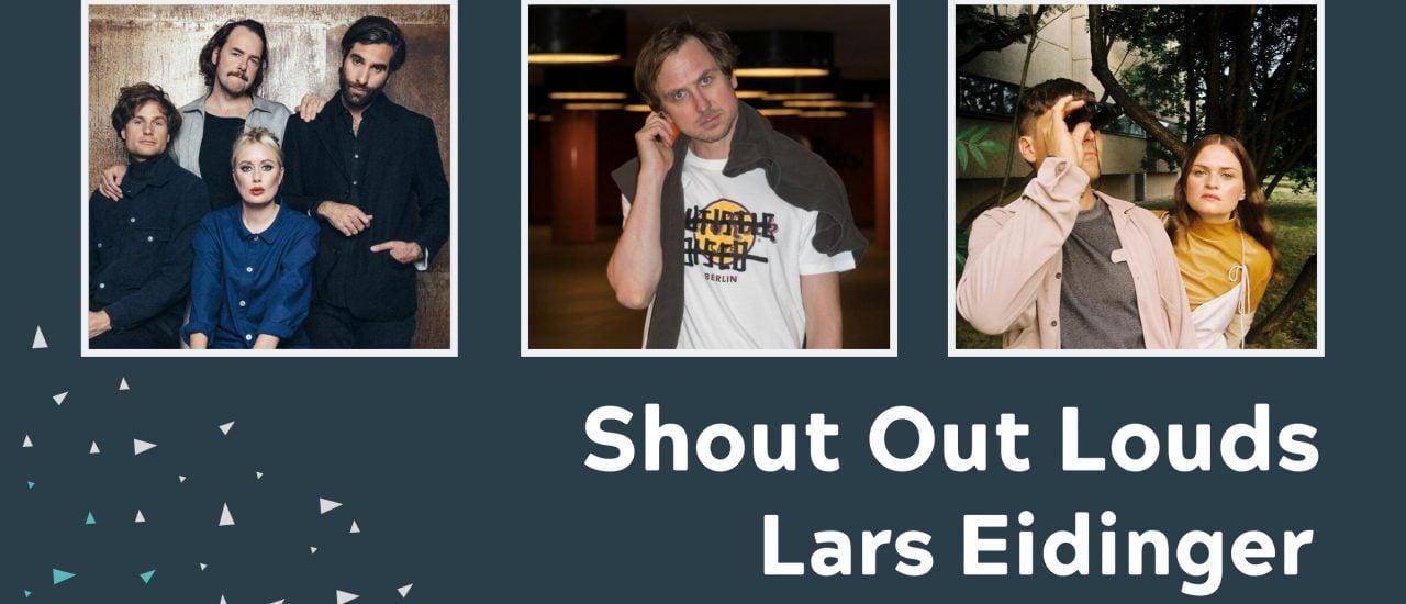 Das Geburtstags-Lineup: Shout Out Louds (Foto: Emma Svensson), Lars Eidinger (Foto: Nils Müller), ÄTNA (Foto: Josefine Schulz)