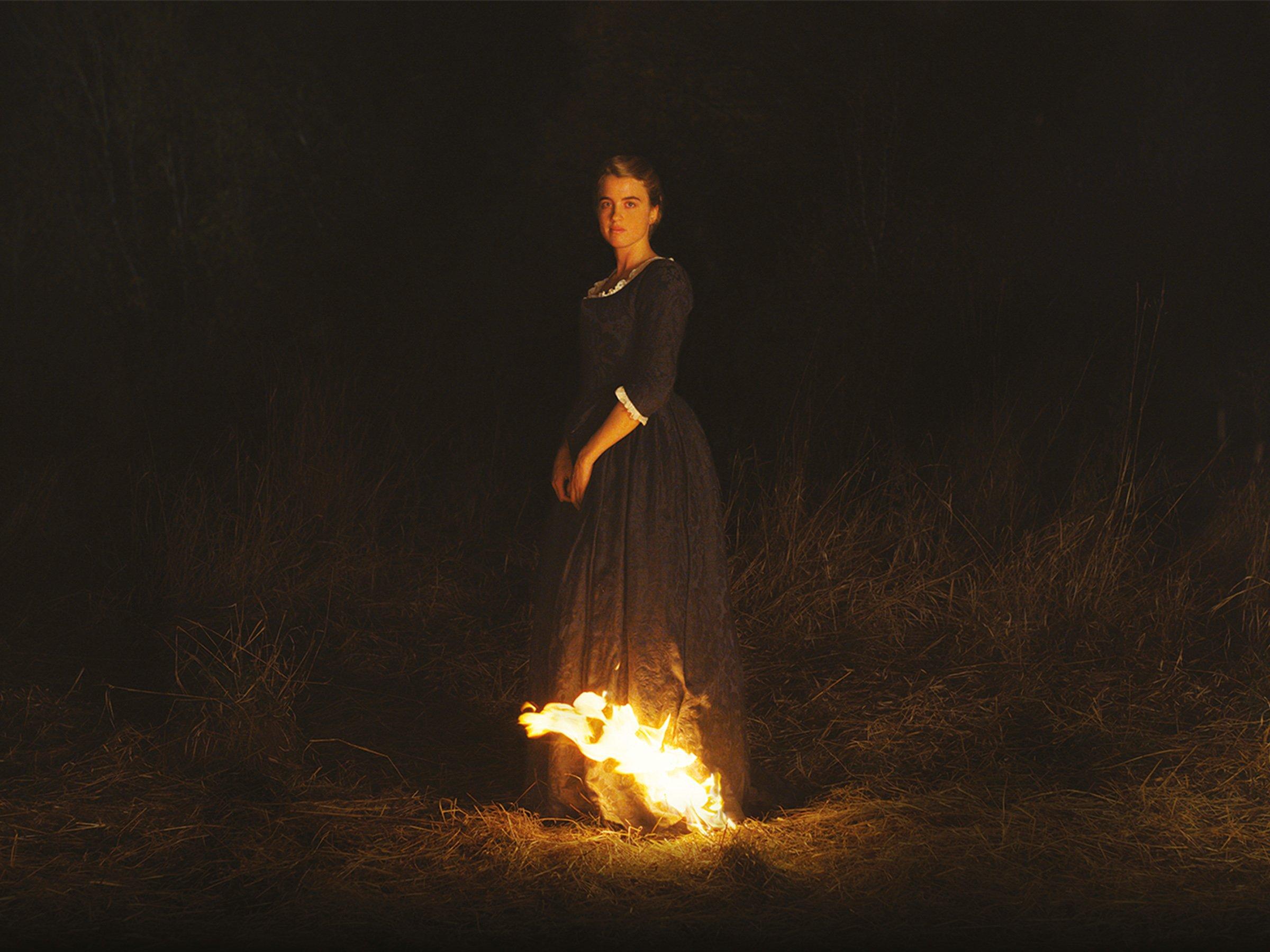 Frau In Flammen