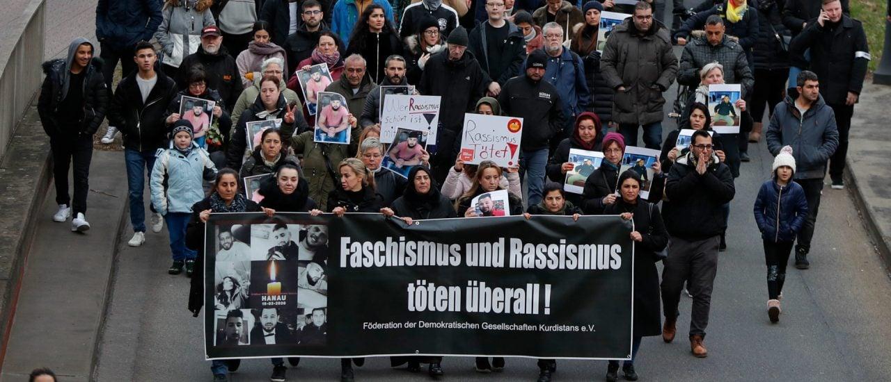 Demo in Hanau. Foto: Odd ANDERSEN / AFP.