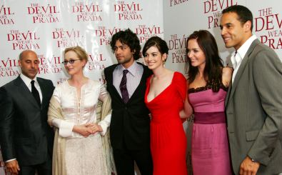 NEW YORK – JUNE 19:  (L-R) Actors Stanley Tucci, Meryl Streep, Adrian Grenier, Anne Hathaway, Emily Blunt and Daniel Sunjata attend the 20th Century Fox premiere of The Devil Wears Prada at the Loews Lincoln Center Theatre on June 19, 2006 in New York City.  (Photo by Evan Agostini/Getty Images) *** Local Caption *** Meryl Streep;Adrian Grenier;Anne Hathaway;Emily Blunt;Daniel Sunjata