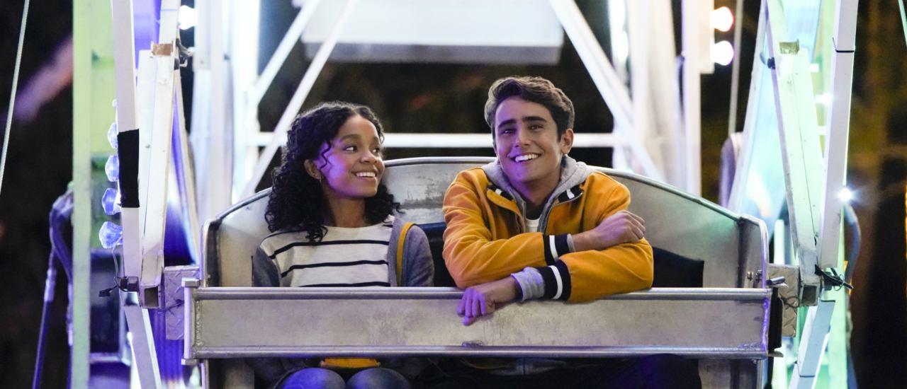 Love, Victor — Mia (Rachel Hilson) and Victor (Michael Cimino), shown. (Photo by: Mitchell Haaseth/Hulu)