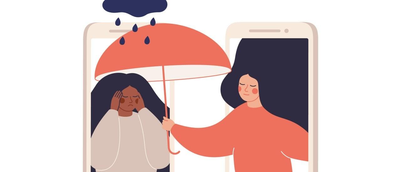 Social Media können bei psychischen Problemen helfen, oft schaden sie aber auch. Foto: Mary Long / shutterstock.com